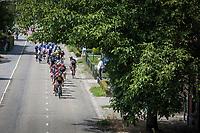 Bram Tankink (NED/Lotto Jumbo) leading the peloton. <br /> <br /> Binckbank Tour 2017 (UCI World Tour)<br /> Stage 1: Breda (NL) > Venray (NL) 169,8km