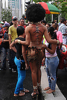 MEDELLÍN -COLOMBIA-30-06-2013. El Día Internacional del Orgullo LGBT (Lesbiana, Gay, Bisexual y Transgénero), también conocido como Día Internacional del Orgullo Gay, es una serie de eventos que cada año los colectivos homosexuales celebran de forma pública para instar por la tolerancia y la igualdad de los gays, lesbianas, bisexuales y transexuales. En la imagen aspecto del Gay Parade en Medellín, Colombia./ The LGBT Pride Day (Lesbian, Gay, Bisexual and Transgender), also known as Gay Pride Day, is a series of events each year celebrating gay groups publicly urging for tolerance and equality gay, lesbian, bisexual and transgender. In the picture aspect of Gay parade in Medellin, Colombia.  Photo:VizzorImage/Luis Ríos/STR