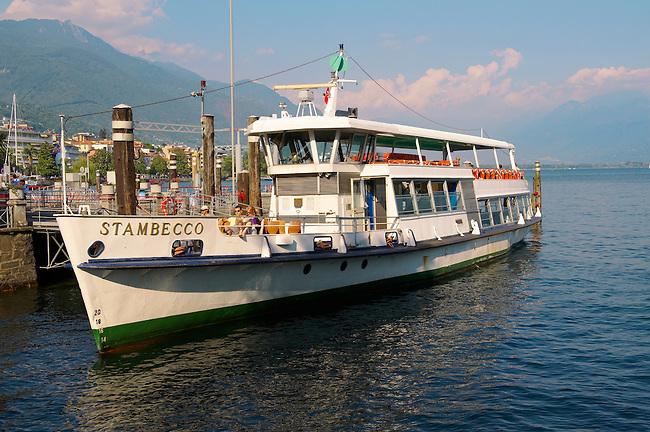 Passenger ferry on Lake Maggiore. Locarno, Ticino Switzerland