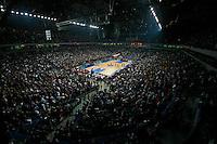 General overview of the Belgrade Arena before start of top 16, second round, Basketball Euroleague match Partizan vs EFES Pilsen in Belgrade, Serbia, Wednesday 26, January 2011. (credit & photo: Pedja Milosavljevic / +381641260959 / thepedja@gmail.com / STARSPORT) total