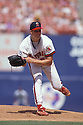 California Angels JIm Abbott (25) in action during a game at Anaheim Stadium, in Anaheim, California from his 1992 season.