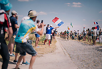 breakaway group at the end of pavé sector #9<br /> <br /> Stage 9: Arras Citadelle > Roubaix (154km)<br /> <br /> 105th Tour de France 2018<br /> ©kramon
