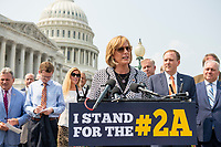 United States Representative Claudia Tenney (Republican of New York) offers remarks during a press conference regarding an Amicus Brief urging the Supreme Court to overturn a 110 year-old New York gun law that imposes limits on carrying weapons outside of the home, at the US Capitol in Washington, DC, Tuesday, July 20, 2021. Credit: Rod Lamkey / CNP /MediaPunch
