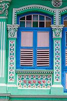 Singapore Koon Seng Road, Joo Chiat District Shop House Window Decoration.