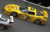 Ron Fellows races to victory in the #2 Corvette..39th Rolex 24 at Daytona, 3/4 February,2001 Daytona International Speedway  Daytona Beach,Florida,USA.©F.Peirce Williams 2001 ..