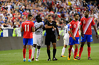 Harrison, NJ - Friday Sept. 01, 2017: Jozy Altidore, John Pitti during a 2017 FIFA World Cup Qualifier between the United States (USA) and Costa Rica (CRC) at Red Bull Arena.