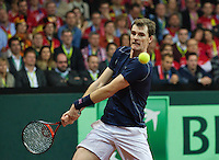 Gent, Belgium, November 28, 2015, Davis Cup Final, Belgium-Great Britain, day two, doubles match, Jamie Murray (GBR) <br /> Photo: Tennisimages/Henk Koster