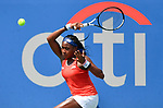 July 28,2019:  Coco Gauff (USA) defeated Hiroko Kuwata (JPN) 6-1, 6-2, at the CitiOpen being played at Rock Creek Park Tennis Center in Washington, DC, .  ©Leslie Billman/Tennisclix/CSM