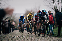 Owain Doull (GBR/SKY) up the Oude Kwaremont<br /> <br /> 71th Kuurne-Brussel-Kuurne 2019 <br /> Kuurne to Kuurne (BEL): 201km<br /> <br /> ©kramon
