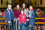 l-r Denise Looney, Faye, Samuel and Lynne O'Neill and Katherine Lynch all from Killarney pictured at the Kingdom Gospel Choirs charity concert in aid of MS Ireland at the Killarney Friary last Sunday evening.