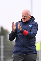 Head Coach Guido Brepoels of KRC Genk pictured during a female soccer game between Club Brugge Dames YLA and KRC Genk on the fifth matchday of the 2021 - 2022 season of Belgian Scooore Womens Super League , saturday 2 october 2021 in Aalter , Belgium . PHOTO SPORTPIX   DAVID CATRY