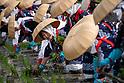 Yuki Saiden O-taue Matsuri, a rice planting ceremony