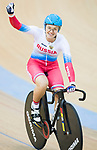 Anastasiia Voinova of the team of Russia celebrates winning in the Women's Team Sprint Final match as part of the 2017 UCI Track Cycling World Championships on 12 April 2017, in Hong Kong Velodrome, Hong Kong, China. Photo by Victor Fraile / Power Sport Images