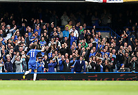Pictured: Oscar celebrates his goal which gave Chelsea the lead<br /> Barclays Premier League, Chelsea FC (blue) V Swansea City,<br /> 28/04/13