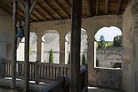 Bell inside the castle at Cazeneuve Aquitaine, France.