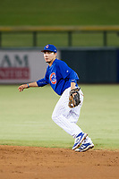 AZL Cubs second baseman Carlos Sepulveda (16) on defense against the AZL Giants on September 6, 2017 at Sloan Park in Mesa, Arizona. AZL Giants defeated the AZL Cubs 6-5 to even up the Arizona League Championship Series at one game a piece. (Zachary Lucy/Four Seam Images)