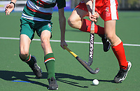 2020 Lower North Island Secondary Schools Hockey Boys Premiership tournament 5th place playoff between Rathkeale College and Lindisfarne College at Fitzherbert Park Twin Turfs in Palmerston North, New Zealand on Friday, 4 September 2020. Photo: Dave Lintott / lintottphoto.co.nz
