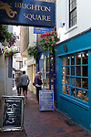 Great Britain, England, East Sussex, Brighton: Boutique shops in Brighton Square in `The Lanes` area
