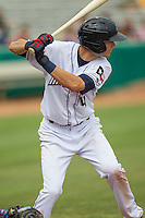 San Antonio Missions shortstop Trea Turner (4) at bat during the Texas League baseball game against the Corpus Christi Hooks on May 10, 2015 at Nelson Wolff Stadium in San Antonio, Texas. The Missions defeated the Hooks 6-5. (Andrew Woolley/Four Seam Images)