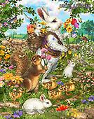 Liz,EASTER, OSTERN, PASCUA, LizDillon, paintings+++++,USHCLD0105B,#E#, EVERYDAY ,white rabbit