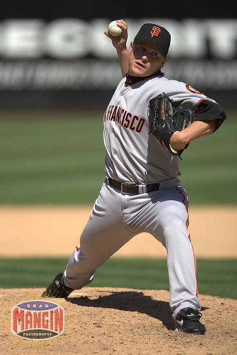 Matt Herges. San Francisco Giants vs Oakland Athletics. Oakland, CA 6/27/2004 MANDATORY CREDIT: Brad Mangin