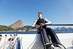 Rio de Janeiro Olympic Test Event - Fédération Française de Voile. Finn, Jonathan Lobert.