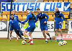 St Johnstone Training...21.05.21<br />Jamie McCart, Michael O'Halloran, Ali McCann, Jason Kerr and Shaun Rooney pictured during training at McDiarmid Park this morning ahead of tomorrow's Scottish Cup Final against Hibs.<br />Picture by Graeme Hart.<br />Copyright Perthshire Picture Agency<br />Tel: 01738 623350  Mobile: 07990 594431