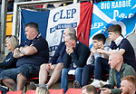 St Johnstone v Dundee….20.04.19   McDiarmid Park   SPFL<br />Dejected Dundee fans<br />Picture by Graeme Hart. <br />Copyright Perthshire Picture Agency<br />Tel: 01738 623350  Mobile: 07990 594431