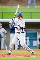 Chase Griffin (23) of the Georgia Southern Eagles at bat against the UNCG Spartans at UNCG Baseball Stadium on March 29, 2013 in Greensboro, North Carolina.  The Spartans defeated the Eagles 5-4.  (Brian Westerholt/Four Seam Images)