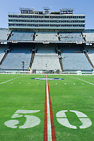 07 October 2006: The Cotton Bowl at The State Fair of Texas, site of the Red River Rivalry, sits vacant before the University of Texas Longhorns game against the University of Oklahoma Sooners at the Cotton Bowl in Dallas, TX.