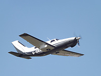 Pictured: A Piper Malibu aircraft, similar to the one missing.<br /> Re: It is believed that Premier League footballer Emiliano Sala was on a flight which disappeared between France and Cardiff.<br /> The Argentine striker was one of two people on board the Piper Malibu, which disappeared off Alderney on Monday night.<br /> Cardiff City FC, signed the 28-year-old from French club Nantes.<br /> A search is under way.<br /> A Cardiff Airport spokeswoman confirmed the aircraft was due to arrive from Nantes but said there were no further details.<br /> HM Coastguard has sent two helicopters to help.