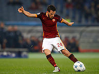 Calcio, Champions League: Gruppo E - Roma vs Bate Borisov. Roma, stadio Olimpico, 9 dicembre 2015.<br /> Roma's Alessandro Florenzi in action during the Champions League Group E football match between Roma and Bate Borisov at Rome's Olympic stadium, 9 December 2015.<br /> UPDATE IMAGES PRESS/Riccardo De Luca