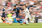 Jose Luis Garcia del Pozo, Recio, (l) of Malaga CF competes for the ball with Luka Modric of Real Madrid during their La Liga 2016-17 match between Real Madrid and Malaga CF at the Estadio Santiago Bernabéu on 21 January 2017 in Madrid, Spain. Photo by Diego Gonzalez Souto / Power Sport Images