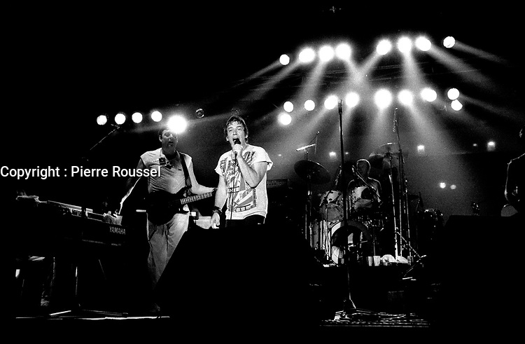 The Animals in concert at the Palladium in Montreal on September 16, 1983.<br /> <br /> File Photo : Agence Quebec Presse - Denis Alix