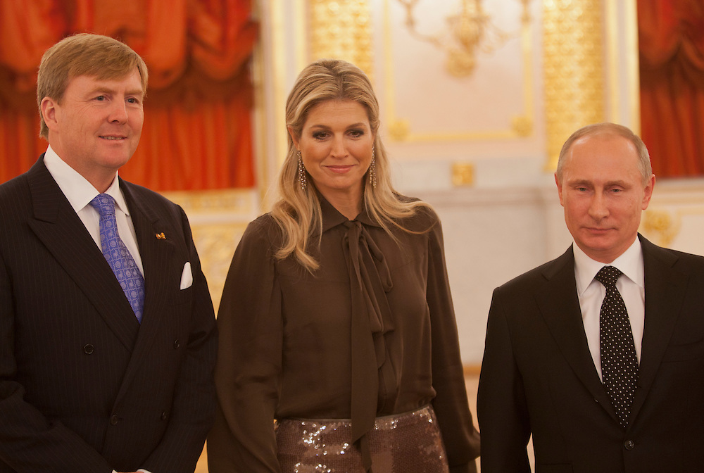 Dutch King Willem Alexander And His Wife Queen Maxima Meet Russian President Vladimir Putin In The Moscow Kremlin The Visit Is The Formal End To The Dutch Russian Friendship Year Geert Groot Koerkamp