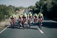 Team race is on! at Trek-Segafredo Mallorca training camp <br /> <br /> January 2018
