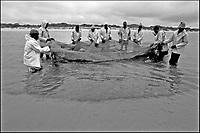 Pesca tradizionale in Mozambico sull'Oceano Indiano