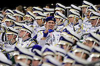 3 December 2009: An Ohio High School marching band member holds a commereative towl during a game between the Buffalo Bills and the New York Jets at the Rogers Centre in Toronto, Ontario, Canada. The Jets defeated the Bills 19-13. Mandatory Credit: Ed Wolfstein Photo