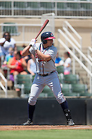 Austin Riley (13) of the Rome Braves at bat against the Kannapolis Intimidators at Kannapolis Intimidators Stadium on June 29, 2016 in Kannapolis, North Carolina.  The Braves defeated the Intimidators 4-0.  (Brian Westerholt/Four Seam Images)