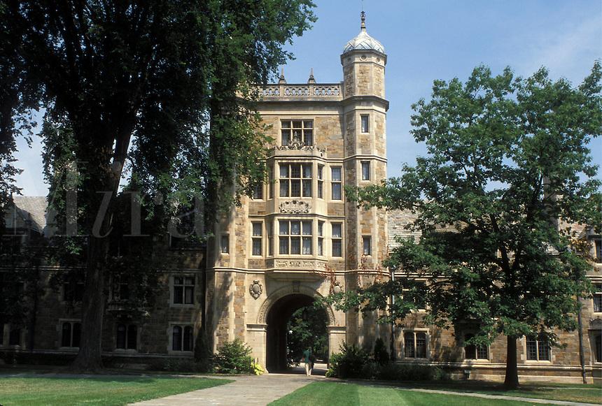 Ann Arbor, MI, Michigan, Law Quadrangle on the Central Campus of the University of Michigan in Ann Arbor.