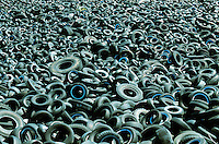 Tire Graveyard, Eastern Pennsylvania. New York New York USA Uptown Manhattan.