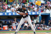11 March 2009: #43 Curt Smith of the Netherlands is seen at bat during the 2009 World Baseball Classic Pool D game 6 at Hiram Bithorn Stadium in San Juan, Puerto Rico. Puerto Rico wins 5-0 over the Netherlands