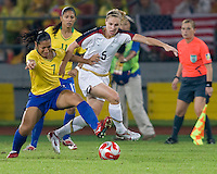 Lindsay Tarpley, Shannon Boxx. The USWNT defeated Brazil, 1-0, to win the gold medal during the 2008 Beijing Olympics at Workers' Stadium in Beijing, China.