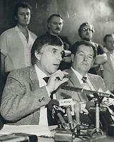 1984 FILE PHOTO - ARCHIVES -<br /> <br /> UAW Leader Bob White<br /> <br /> 1984<br /> <br /> PHOTO :  Erin Comb - Toronto Star Archives - AQP
