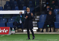 Football: Uefa Nations League Group A match Italy vs Netherlands at Gewiss stadium in Bergamo, on October 14, 2020.<br /> Italy's coach Roberto Mancini speaks to his players during the Uefa Nations League match between Italy and Netherlands at Gewiss stadium in Bergamo, on October 14, 2020. <br /> UPDATE IMAGES PRESS/Isabella Bonotto