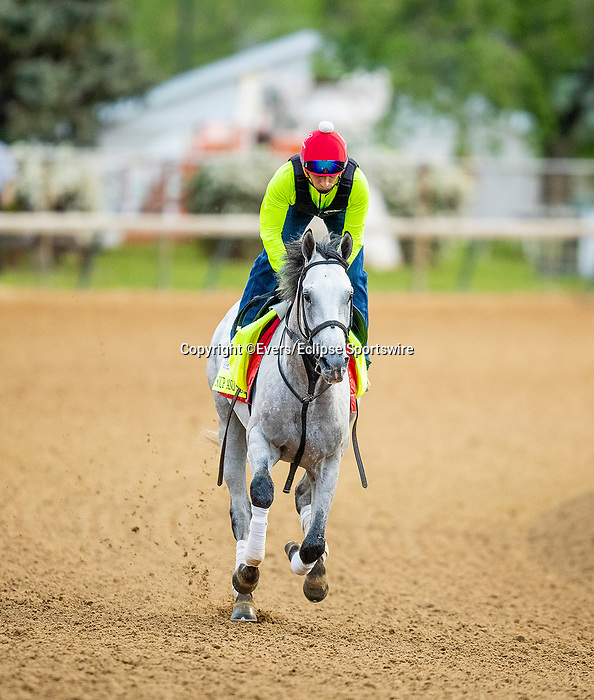 April 28, 2021: Soup and Sandwich gallops in preparation for the Kentucky Derby at Churchill Downs in Louisville, Kentucky on April 28, 2021. EversEclipse Sportswire/CSM