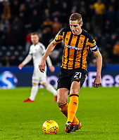 Hull City's defender Michael Dawson (21) during the Sky Bet Championship match between Hull City and Sheff United at the KC Stadium, Kingston upon Hull, England on 23 February 2018. Photo by Stephen Buckley / PRiME Media Images.