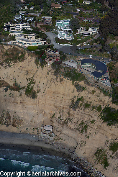 aerial photograph of La Jolla coastline, San Diego, County, California