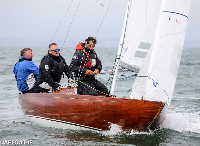 The beautifully restored Dragon, Titan will be on of 15 boats contesting the Irish Dragon Nationals at Kinsale in September