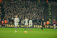 Liverpool players are dejected at west hams equaliser  during West Ham United vs Liverpool, Premier League Football at The London Stadium on 4th February 2019